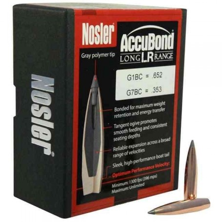 Puntas Nosler Accubond Long Range calibre.284 (7mm) - 168 grains