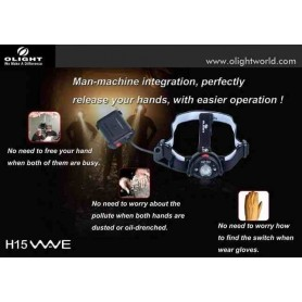 Linterna frontal Olight H-15 Wave