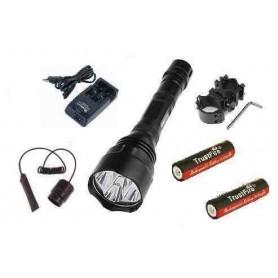 Kit linterna Trustfire 1200 lumenes 5 MODOS+ accesorios de